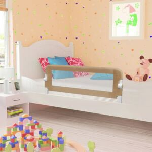 VidaXL Toddler Safety Bed Rail Taupe 102x42 cm Polyester