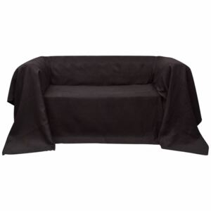 VidaXL Micro-suede Couch Slipcover Brown 140 x 210 cm