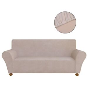 VidaXL Stretch Couch Slipcover Beige Polyester Jersey