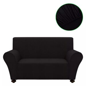 VidaXL Stretch Couch Slipcover Black Polyester Jersey