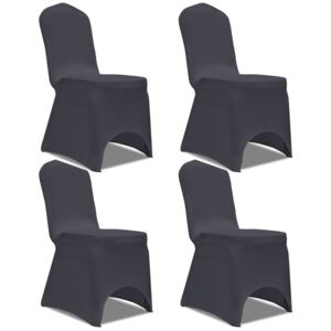 Stretch Chair Cover 4 pcs Anthracite