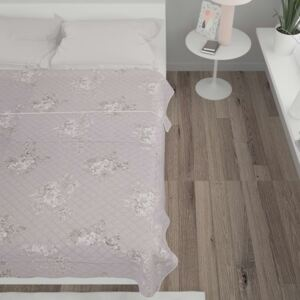 VidaXL Quilt Taupe 230x260 cm Ultrasonic Quilted Fabric