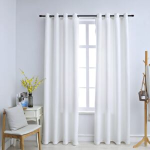 VidaXL Blackout Curtains with Metal Rings 2 pcs Off White 140x175 cm
