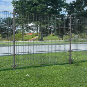 VidaXL Fence Panel with Posts Powder-coated Iron 6x2 m Anthracite