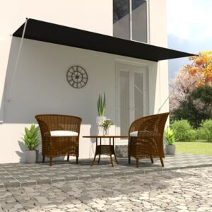 VidaXL Retractable Awning 400x150 cm Anthracite