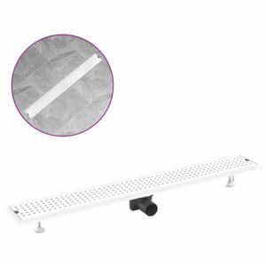 Shower Drain Dots 93x14 cm Stainless Steel