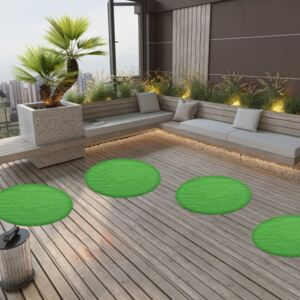 Artificial Grass with Studs Dia.95 cm Green Round