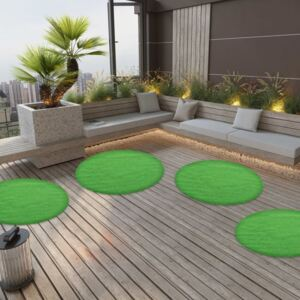 Artificial Grass with Studs Dia.130 cm Green Round
