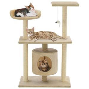 Cat Tree with Sisal Scratching Posts 95 cm Beige