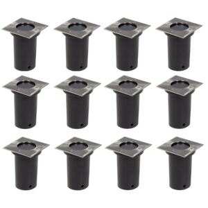 Outdoor Ground Lights 12 pcs Square