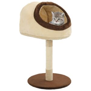 Cat Tree with Sisal Scratching Post 72 cm Beige and Brown