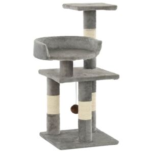 Cat Tree with Sisal Scratching Posts 65 cm Grey