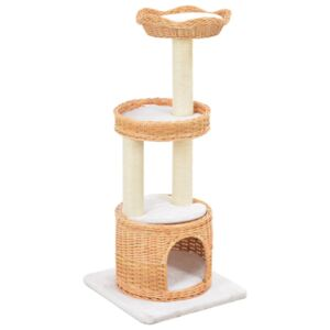 VidaXL Cat Tree with Sisal Scratching Post Natural Willow Wood