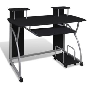 VidaXL Computer Desk with Pull-out Keyboard Tray Black