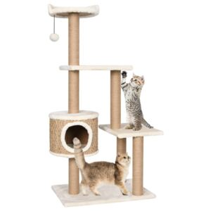 VidaXL Cat Tree with Scratching Post 123cm Seagrass