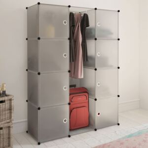 Modular Cabinet with 9 Compartments 37x115x150 cm White