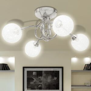 VidaXL Ceiling Lamp with Mesh Wire Shades for 4 G9 Bulbs
