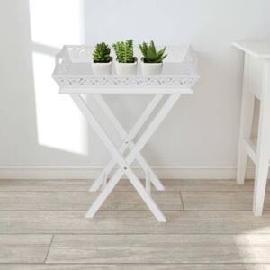 VidaXL Side Table with Tray White