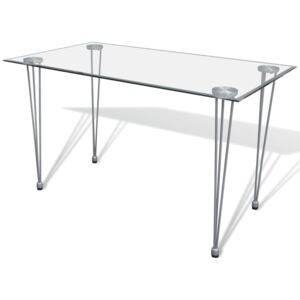 VidaXL Dining Table with Glass Top Transparent