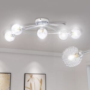 VidaXL Ceiling Lamp with Mesh Wire Shades for 5 G9 Bulbs