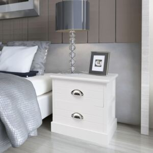 French Bedside Cabinet White