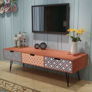 VidaXL TV Cabinet with 3 Drawers 120x40x36 cm Brown