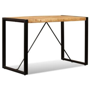 Dining Table Solid Rough Mango Wood 120 cm