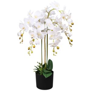 Artificial Orchid Plant with Pot 75 cm White
