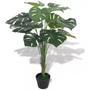 Artificial Monstera Plant with Pot 70 cm Green