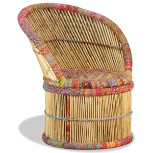 Bamboo Chair with Chindi Details