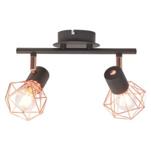 VidaXL Ceiling Lamp with 2 Spotlights E14 Black and Copper