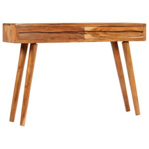 Console Table Solid Acacia Wood with Carved Drawers 118x30x80cm