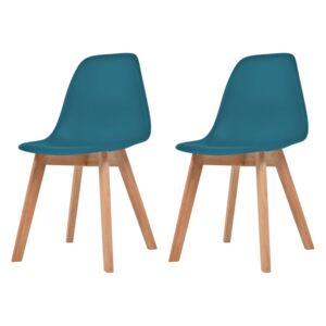 Dining Chairs 2 pcs Turquoise Plastic