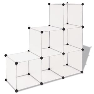 VidaXL Storage Cube Organiser with 6 Compartments White