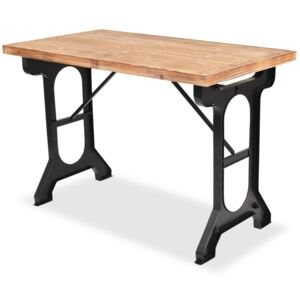 Dining Table Solid Fir Wood Top 122x65x82 cm