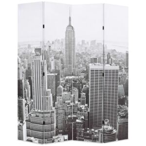 Folding Room Divider 160x170 cm New York by Day Black and White