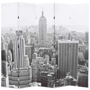 VidaXL Folding Room Divider 200x170 cm New York by Day Black and White
