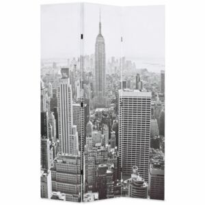 VidaXL Folding Room Divider 120x170 cm New York by Day Black and White
