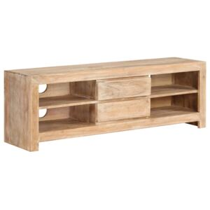 TV Cabinet Solid Acacia Wood 120x30x40 cm Light Brown