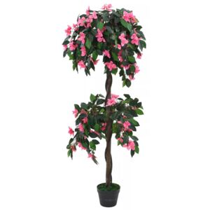 VidaXL Artificial Rhododendron Plant with Pot 155 cm Green and Pink