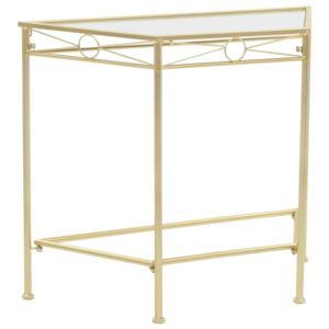 Side Table Vintage Style Metal 87x34x73 cm Gold