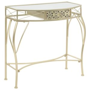 VidaXL Side Table French Style Metal 82x39x76 cm Gold