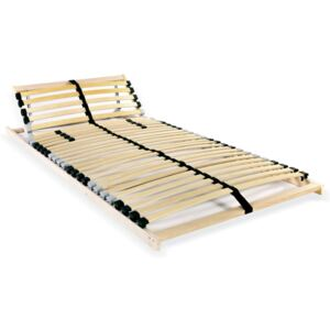 Slatted Bed Base with 28 Slats 7 Zones 70x200 cm