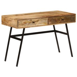 Writing Desk with Drawers Solid Mango Wood 110x50x76 cm