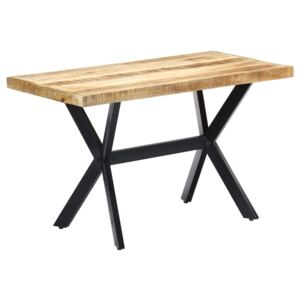Dining Table 120x60x75 cm Solid Rough Mango Wood