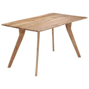 Dining Table 140x80x76 cm Solid Acacia Wood