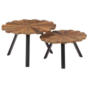 Coffee Tables 2 pcs Solid Reclaimed Wood
