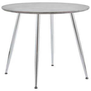 Dining Table Concrete and Silver 90x73,5 cm MDF