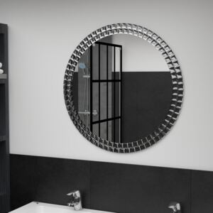 Wall Mirror Silver 70 cm Tempered Glass