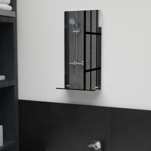 Wall Mirror with Shelf 20x40 cm Tempered Glass